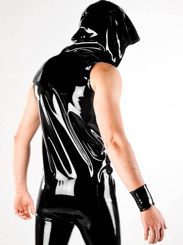 Polymorphe Latex Hooded Vest W/Zip