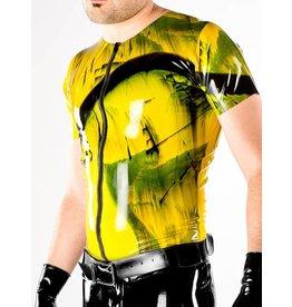 Polymorphe Marbled Latex Zip T Shirt