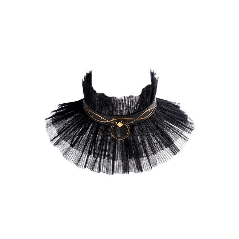 Zalo Zalo Leather Thorn Collar w/ Leash