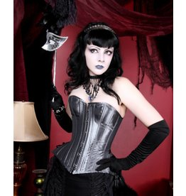 Black Iris Iridescent Corset W/Side Lace