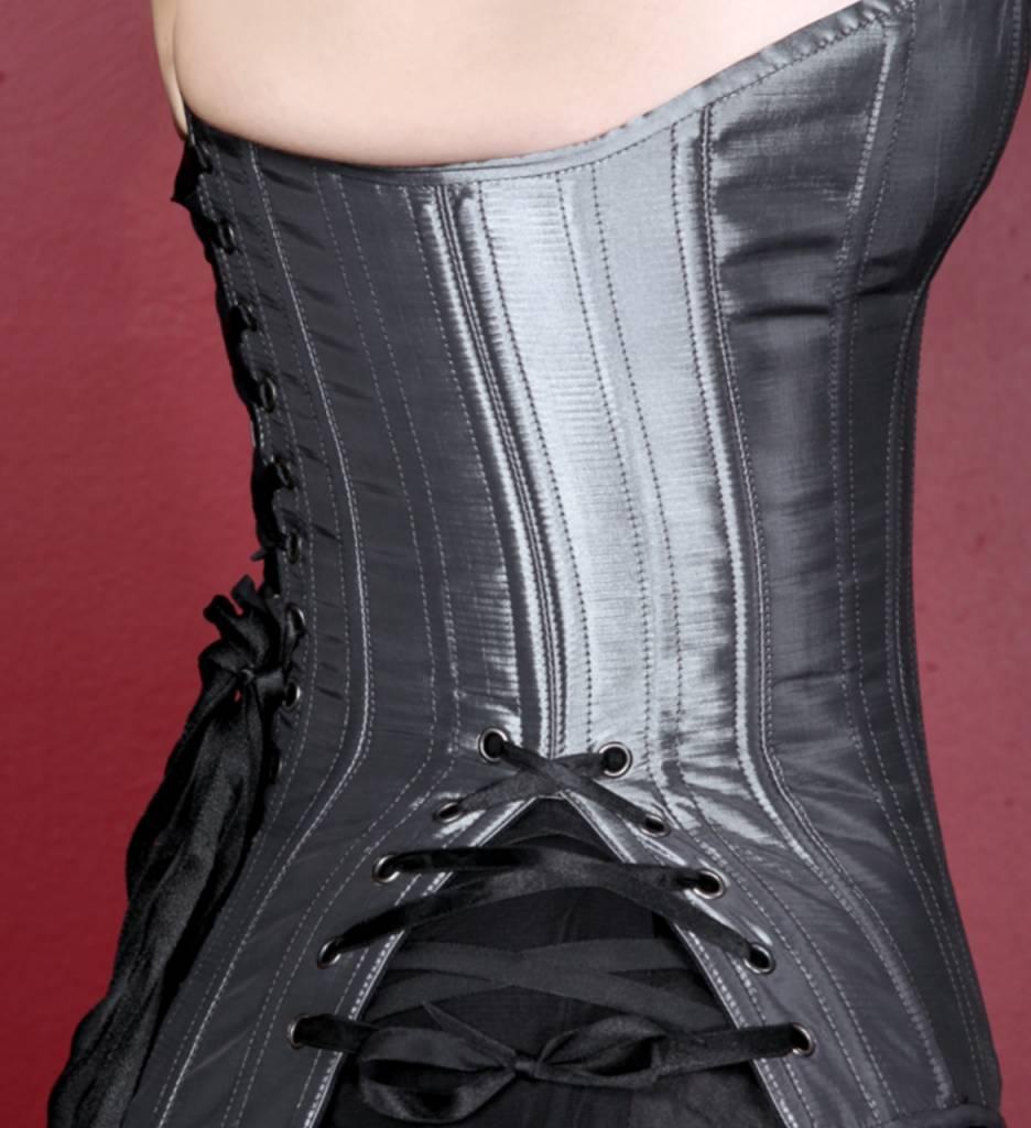 Black Iris Iridescent Corset W/Side Lace