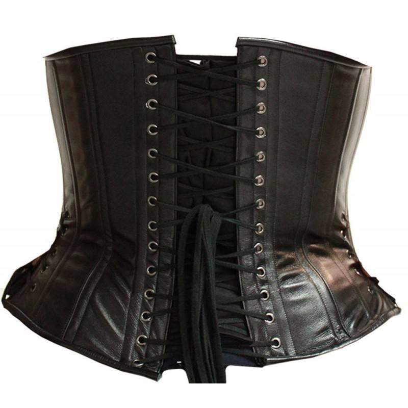 Leather Corset W/Side Lacing
