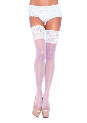 Sheer Stay-Up Lace Thigh-Highs