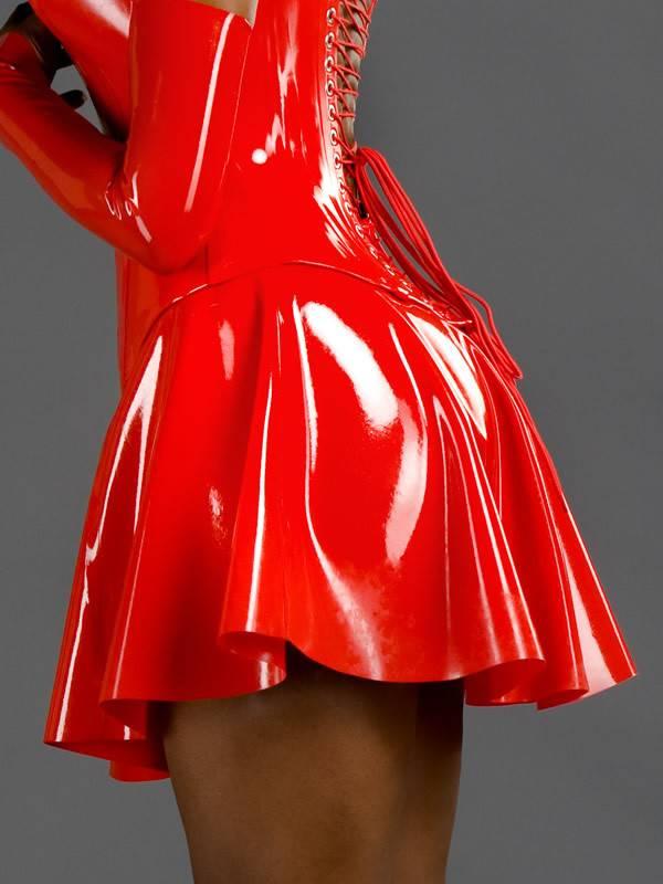 DP Latex Classic A-Line Skirt