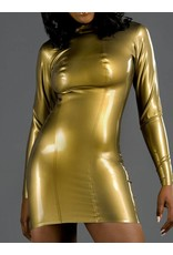 Latex Ls Mini Dress