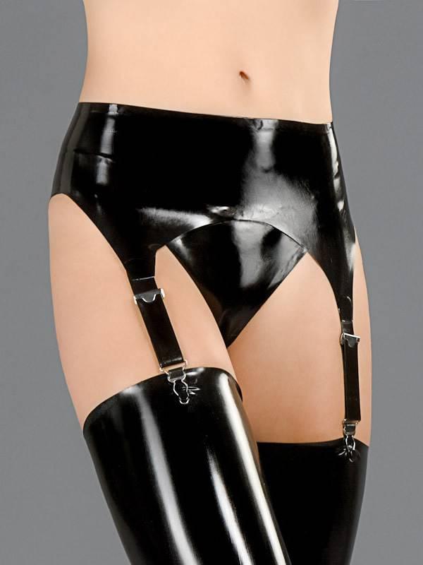 DP Latex Garter Belt W/Lace Back