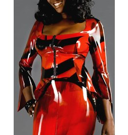 Marbled Latex Countess Ls Top