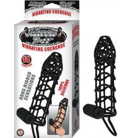 Tuff Vibrating Cock Cage Black
