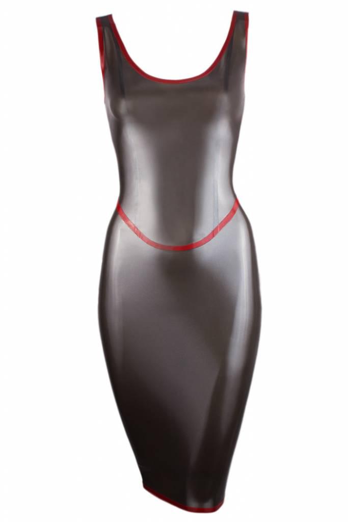 Latex Lobster Tail Bow Halter Dress