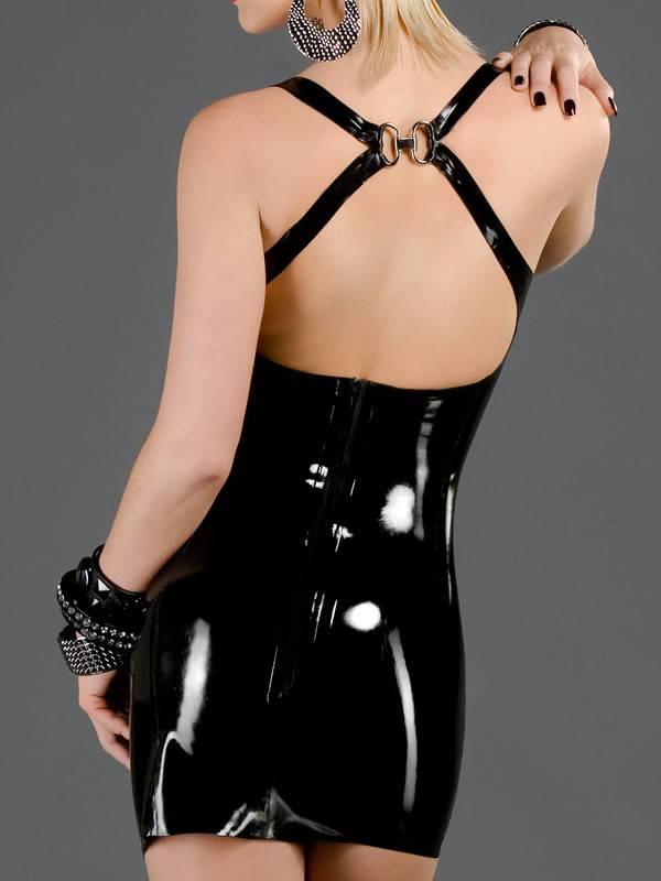 Polymorphe Latex Back Zip Cocktail Dress