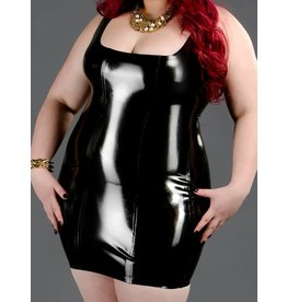 DP  Latex Back Zip Cocktail Dress