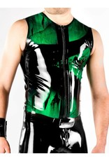 DP Marbled Latex Sleeveless Zip Shirt