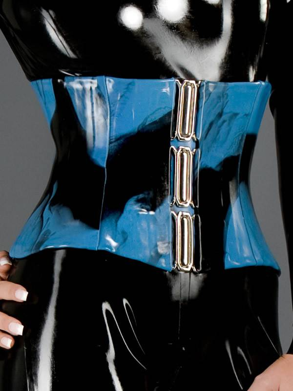 3 Buckle Marbled Latex Cincher