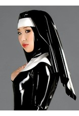 DP Latex Nun Habit  Wimple / Veil & Scepular Collar