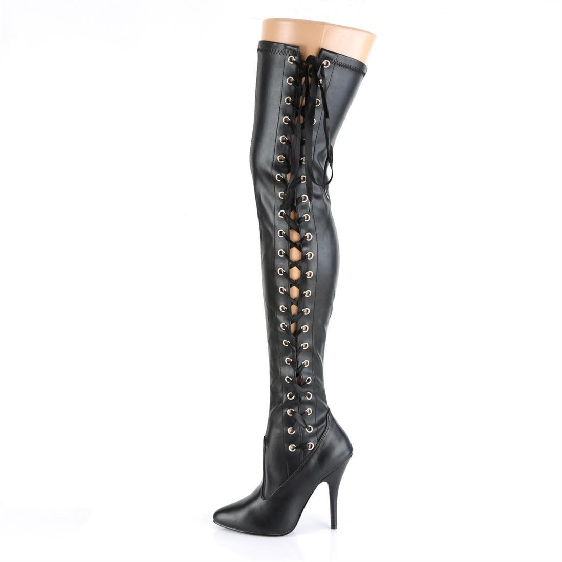"5"" Seduce Lace Up Thigh Boot"