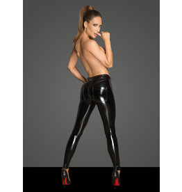 Vinyl and Sheer Panel Pants