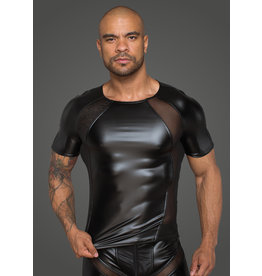 Wetlook and Mesh Panel Shirt