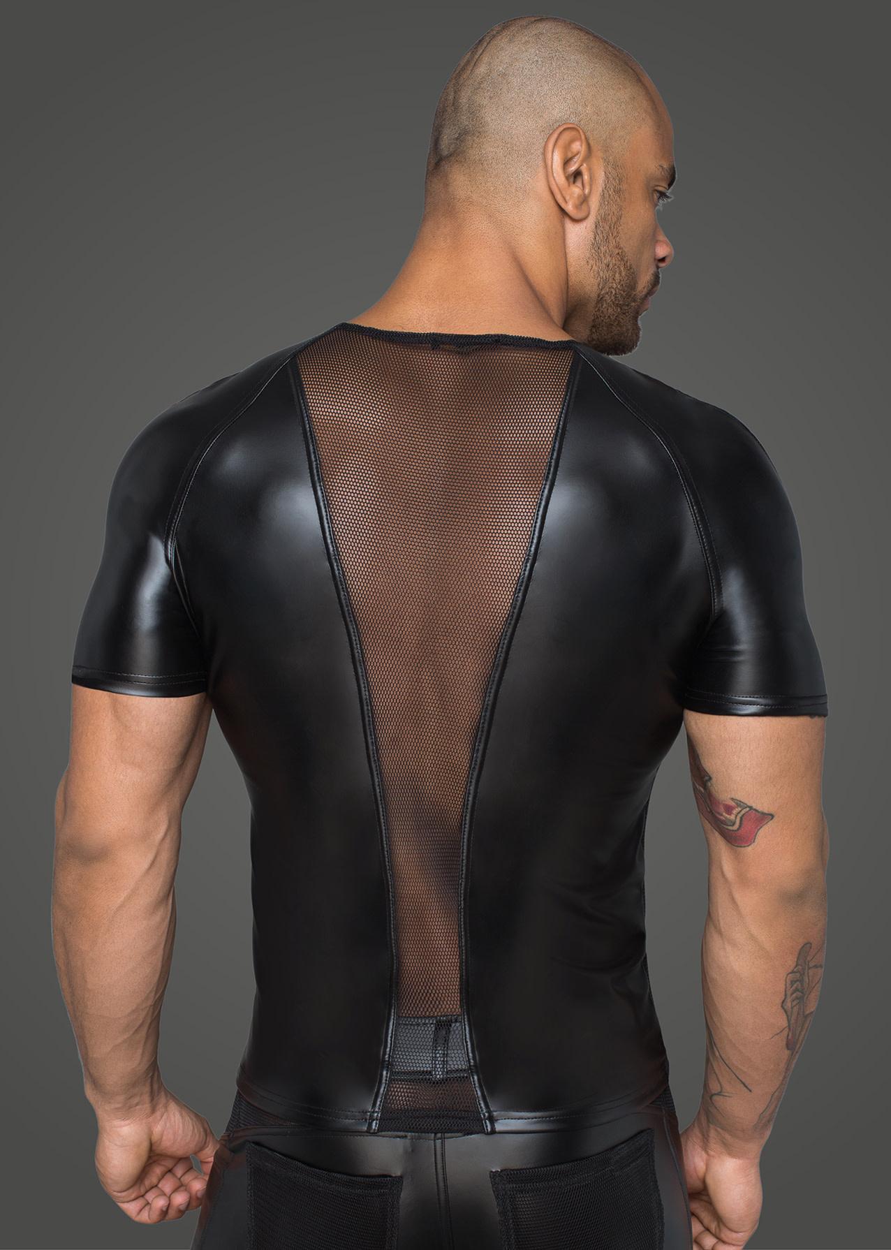 Wetlook and Mesh Panel Shirt