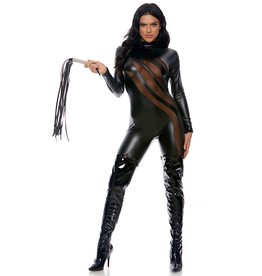 Wetlook and Mesh Slash Catsuit