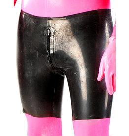 Polymoprhe Latex Bermuda Shorts W/ 4-Zip