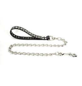 Leather and Chain Leash