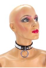 Leather Metal Band Bondage Collar