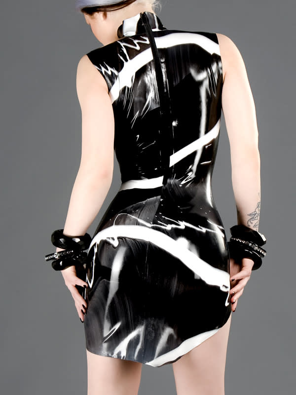 Marbled Latex Amazon Dress