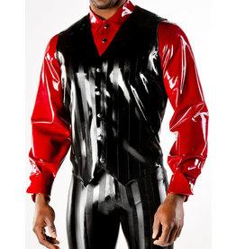 Striped Latex Vest w/ Snaps