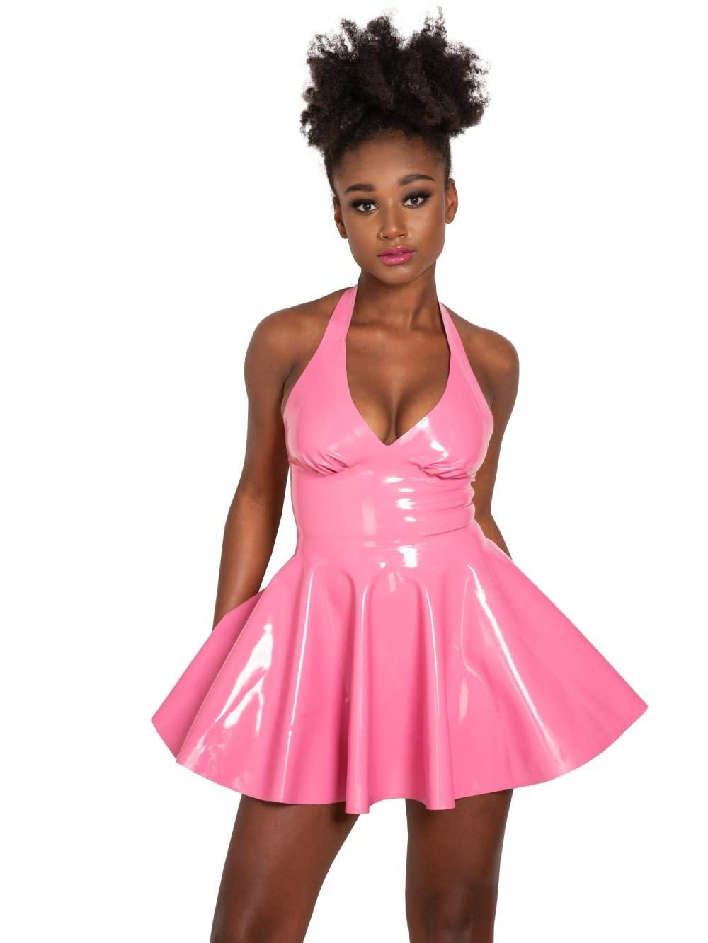 Sandy Halter Latex Dress