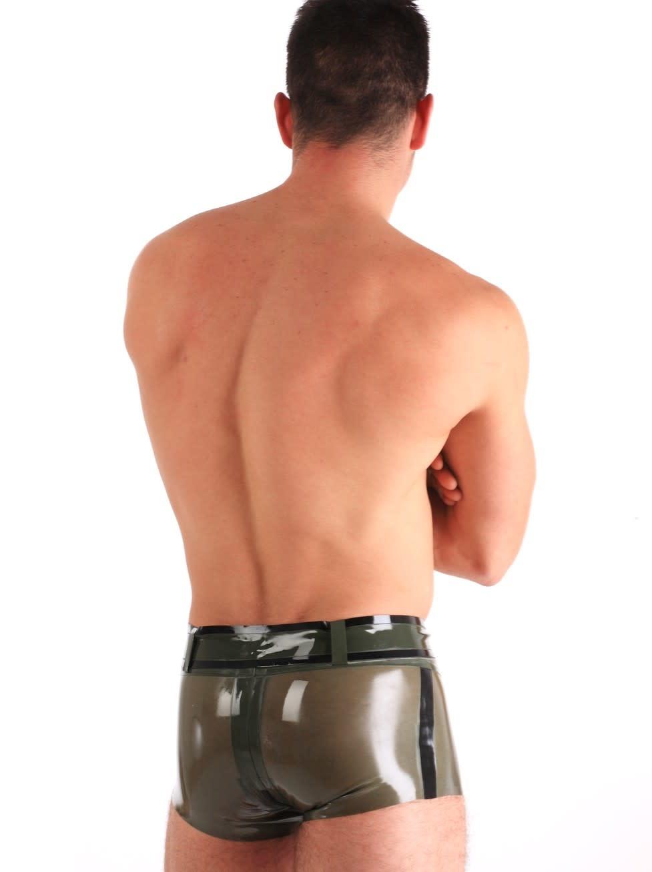 Latex Army Shorts