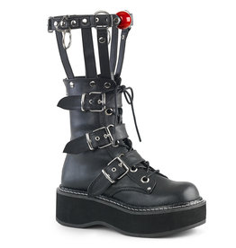 "2"" Platform Buckled Boot with Ball Gag Leg Brace"