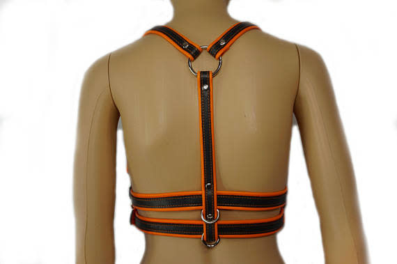 Two-Tone Double Belt Dom Harness