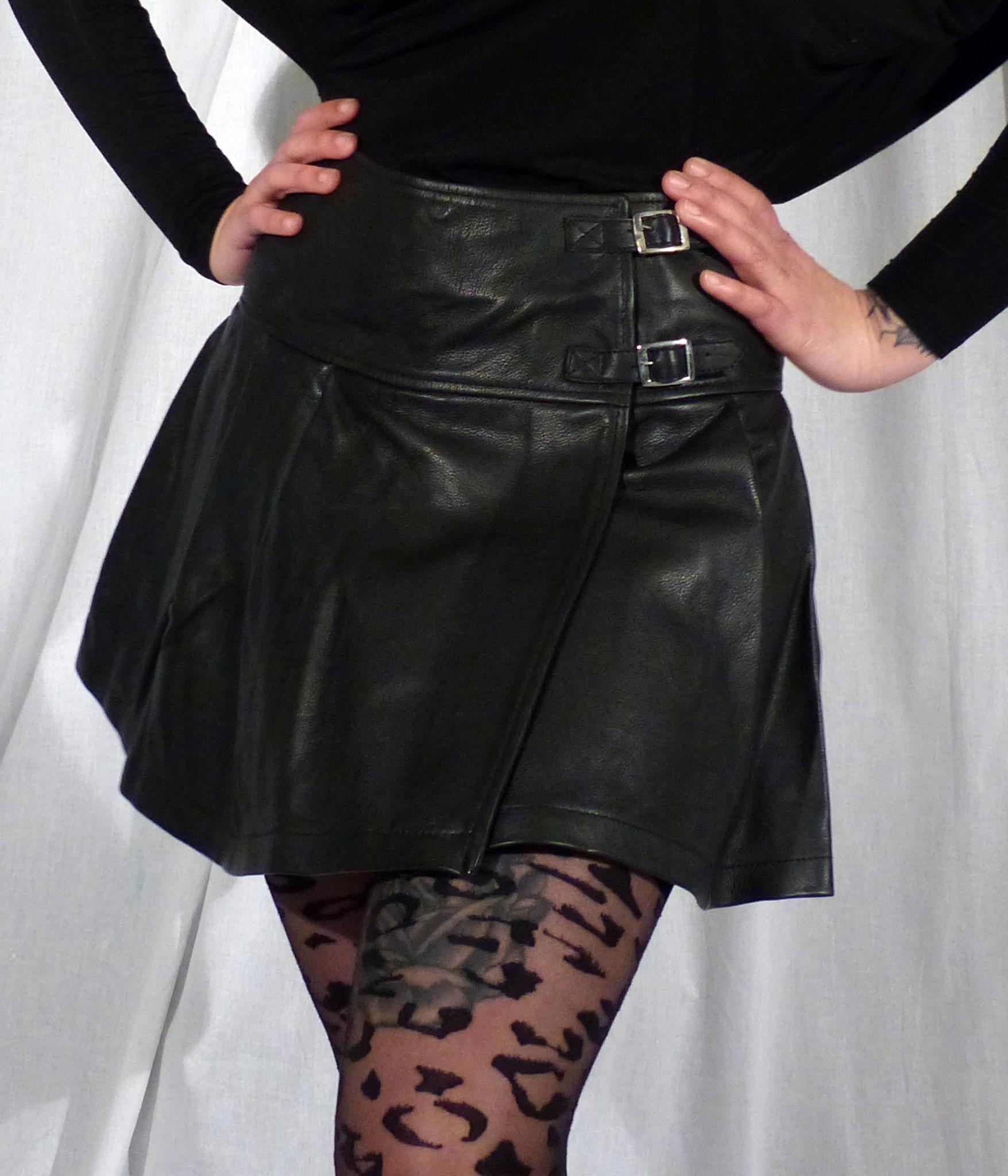 Leather Kilt Skirt