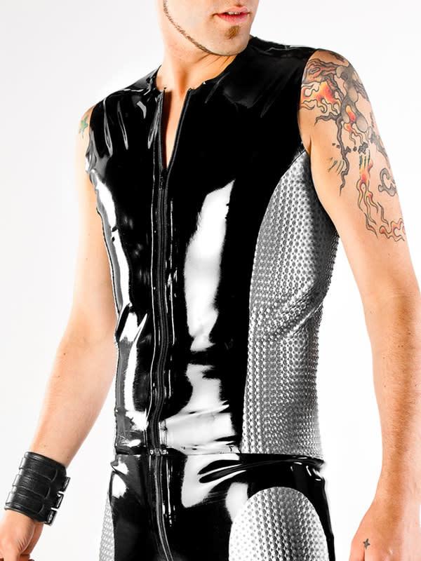 Latex Motocross Vest w/Textured Panels