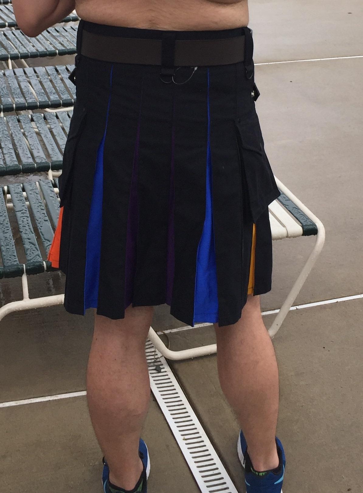 PASSIONAL Pride Flag Contrast Pleat Cargo Kilt