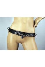 Locking Leather Bondage Belt