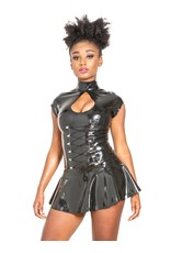 Open Keyhole Gladiator Latex Dress