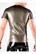 Latex Zip Front T-Shirt