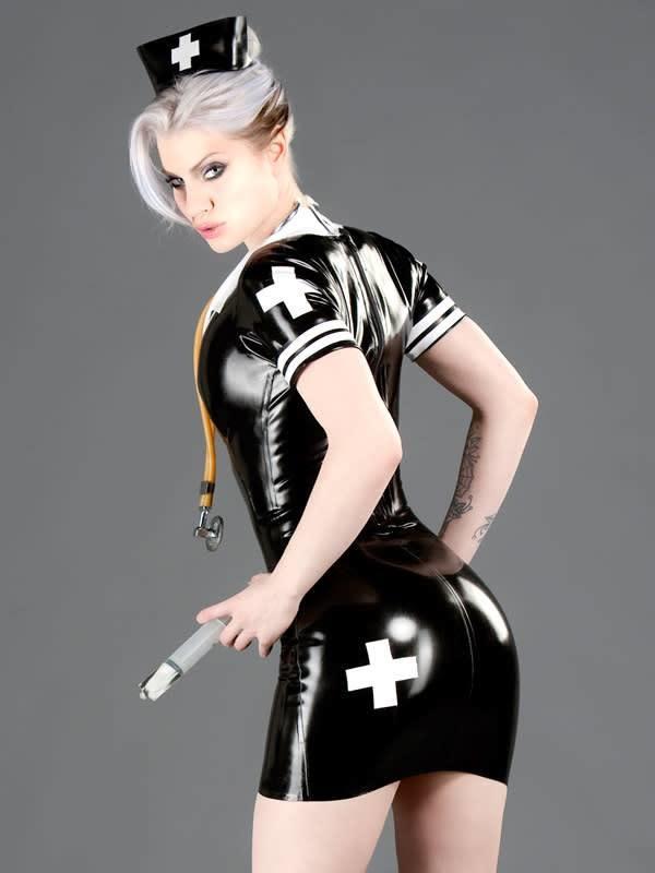 Polymoprhe Latex Nurse's Dress