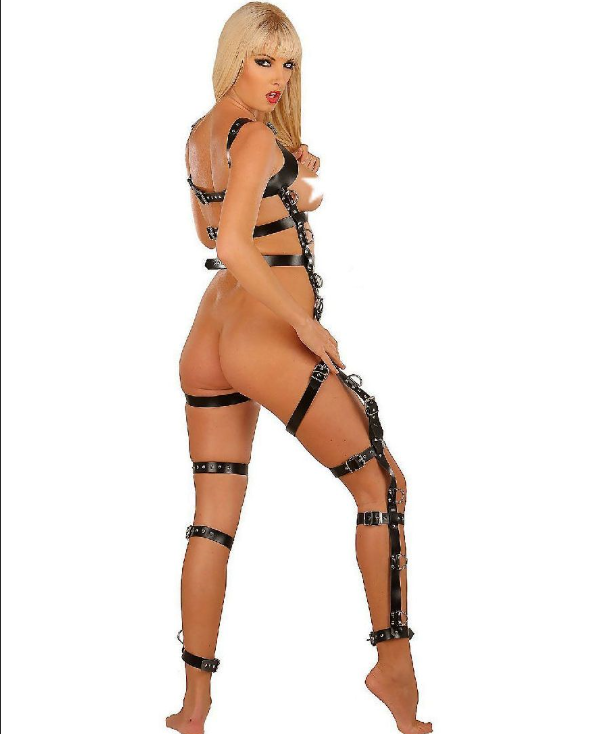 Leather Catsuit Body Harness