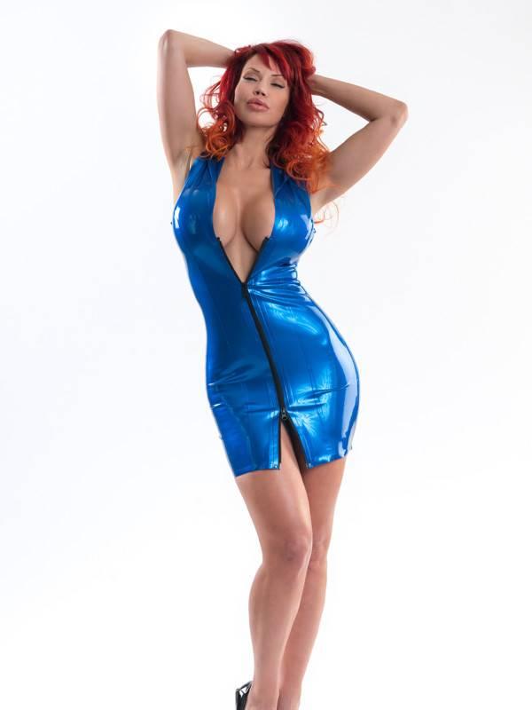 Latex Hoodie Dress