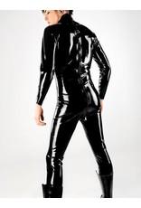DP Men'S Latex Back Zip Catsuit Black MEDIUM