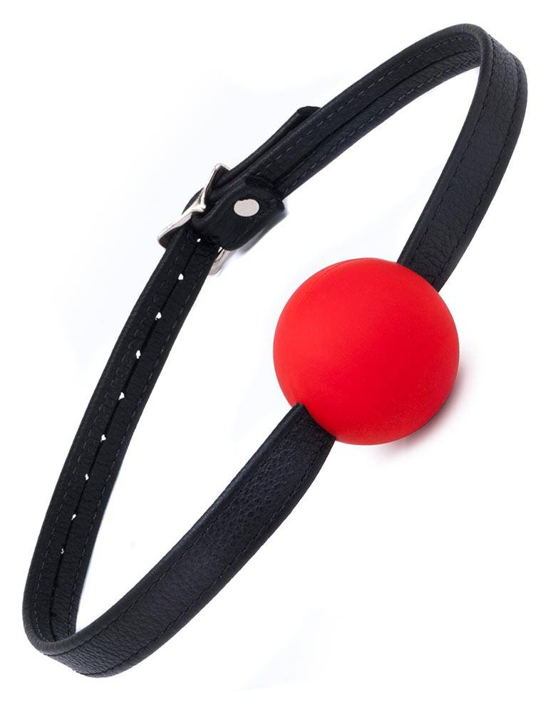 Silicone Ball Gag w/ Leather Strap