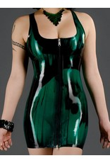 Polymorphe DP Marbled Latex Front Zip Cocktail Dress