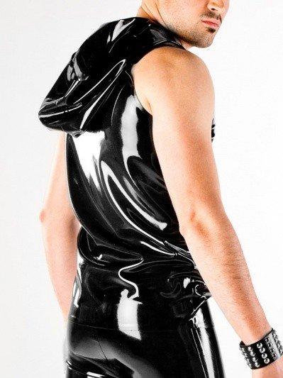 Latex Hooded Vest W/Zip