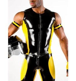 Latex Motocross Vest w/Textured Panels