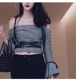 Leatherette Suspender Wrap Harness