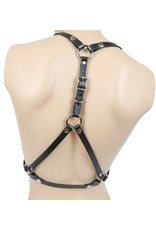 Open Cup Leather Bra Harness