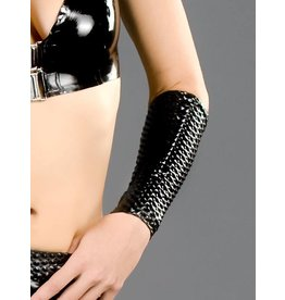 Textured Latex Arm Sleeves Short