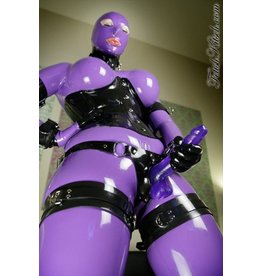 Heavy Rubber Dildo Harness